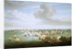 The Battle of Trafalgar, 21 October 1805, beginning of the action by Nicholas Pocock
