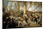 The fall of Nelson, Battle of Trafalgar, 21 October 1805 by Denis Dighton