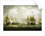 The Battle of Trafalgar, 21 October 1805, beginning of the action by Thomas Buttersworth