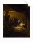 The death of Lord Nelson in the cockpit of the ship 'Victory' by Benjamin West