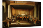 Trial of four British seamen at Canton, 1 October 1807: scene inside the Court by Chinese School