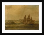HMS 'Mercury' takes 'La Pugliese' in Barletta, 7 September 1809 by William John Huggins