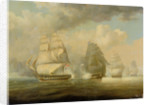 Escape of HMS 'Belvidera', 23 June 1812 by William John Huggins