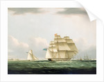 The yacht 'Royal Sovereign' with the Duchess of Clarence on board, leaving Portsmouth to view the visiting Russian squadron anchored in Spithead, 8 August 1827 by Henry Moses