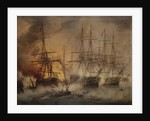 The Battle of Navarino, 20 October 1827 by Thomas Luny
