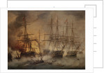 The Battle of Navarino, 20 October 1827 by Thomas Luny
