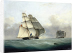 The capture of the Slaver 'Gabriel' by HMS 'Acorn', 6 July 1841 by Nicolas Matthew Condy