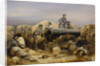 The 'Diamond' battery at the siege of Sebastopol, 15 December 1854 by William Simpson