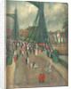 The coronation procession at Battersea Bridge, June 1911 by Cecil CP Lawson