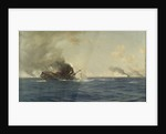 Sinking of the 'Scharnhorst' at the Battle of the Falkland Islands, 8 December 1914 by Thomas Jacques Somerscales