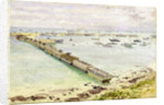 Mulberry harbour, Arromanches: Normandy landing, June 1944 by Stephen Bone