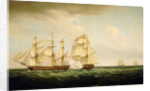 HMS 'Pearl' and the 'Santa Monica', 14 September 1779 by Thomas Whitcombe