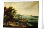 A landscape with a village on the bank of a river by Jan Err:520 Brueghel the Elder