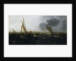 Dutch vessels in a strong breeze by Jan Porcellis