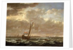 A Dutch admiralty yacht off Flushing by Cornelis Claesz van Wieringen