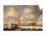 Dutch ships in a breeze by Monogrammist DW