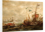 Spanish engagement with Barbary pirates by Andries van Eertvelt