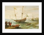 An Algerine ship off a barbary port by Andries van Eertvelt