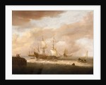 The departure of an East Indiaman by Hendrick Staets