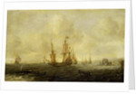 A Dutch whaling fleet by Jacob Feyt de Vries