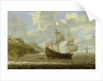 An English ship leaving the coast by Tobias Flessiers
