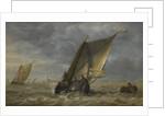 Fishing boats in a fresh breeze by Abraham Hendricksz van Beyeren
