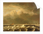 Rough seas breaking over a jetty by Jacob van Ruisdael