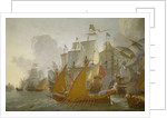 Action between the Dutch fleet and barbary pirates by Lieve Pietersz Verschuier