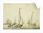 Two Dutch boeier yachts under sail by Willem van de Velde the Elder