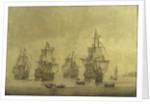The 'Eendracht' with the 'Zeven Provincien' and other Dutch men-of-war by Cornelis Pietersz Mooy