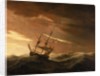 An English ship lying-to in a gale by Willem Van de Velde the Younger