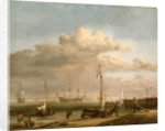 Calm: the Dutch coast with a weyschuit by Willem Van de Velde the Younger