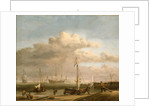 Calm: the Dutch coast with a weyschuit by Willem Van de Velde the Younger