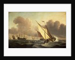 A kaag going to windward in a fresh breeze by Willem Van de Velde the Younger