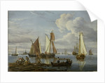 Dutch shipping in an estuary by Abraham Storck