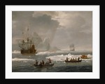 Royal yachts, one ketch rigged and one smack rigged by L. de Man