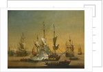 A shipping scene in the Lower Thames about 1720 by J. B. Bouttats