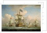 An English fleet coming to anchor by Peter Monamy