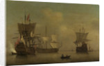 Three English flagships becalmed by Peter Monamy