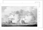 Action between English and French ships by unknown