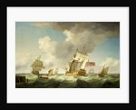 An East Indiaman in a fresh breeze by Charles Brooking