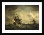 An English squadron going to windward by Charles Brooking