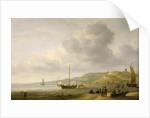 A beach scene near Scheveningen by Charles Brooking