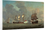 An English privateer engaging a French privateer by Samuel Scott