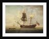 A brigantine in a calm sea by John Cleveley