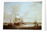 Shipping off Woolwich by Thomas Mellish