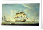 A whaler and other vessels in a light breeze by John Askew