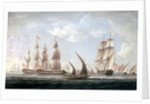 Attack on HMS 'Aurora' by pirates, 1812: end of the action by unknown