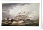 Third Rates in a Rough Sea by John Thomas Serres