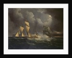 A smuggling lugger chased by a naval brig by unknown
